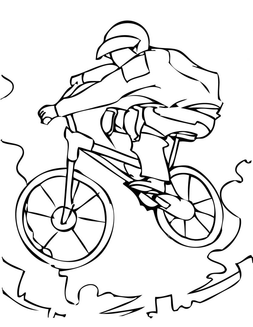 nino montando bicicleta Colouring Pages (page 2)